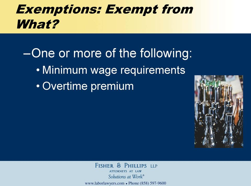 following: Minimum wage