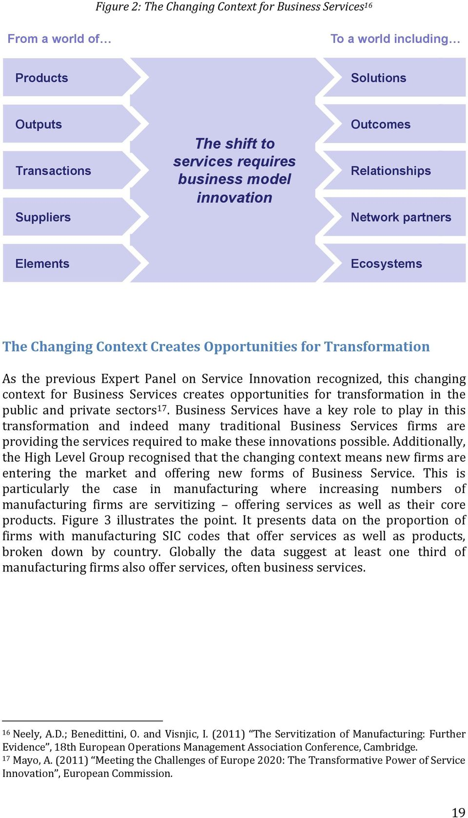 context for Business Services creates opportunities for transformation in the public and private sectors 17.