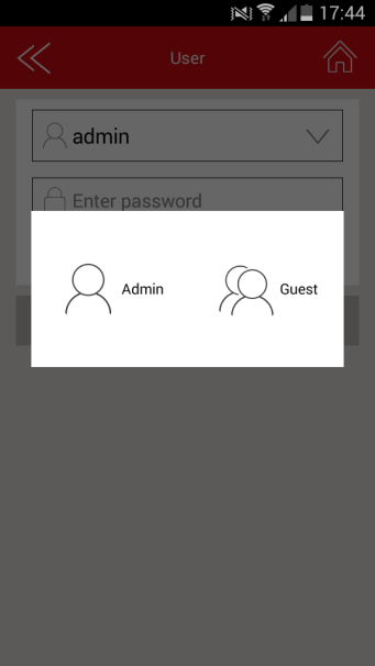 Admin password setting: Enter the password and confirm it. Then save.