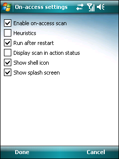 4. On-access scanner The On-access scanner checks files that you interact with in real time. Files that are run, opened or saved are checked for threats automatically.