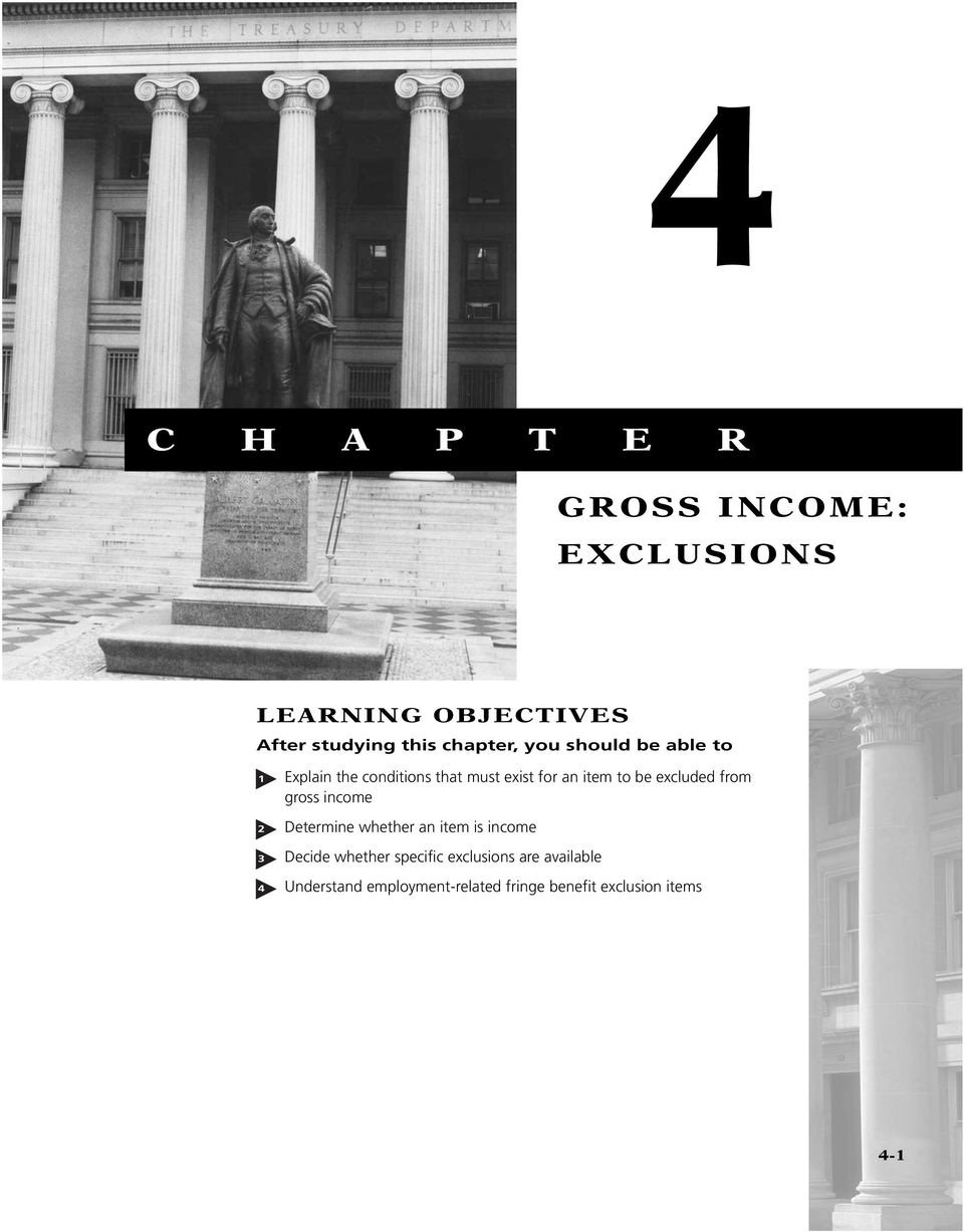 be excluded from gross income 2 Determine whether an item is income 3 Decide whether
