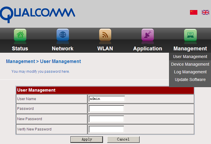 3.6 Checking the status of the internet and the router device Click Status, it will show the menu as