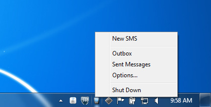 4. Sending a SMS message To create an SMS message, you can open a New SMS window. There is a multitude of ways to do this: 4.
