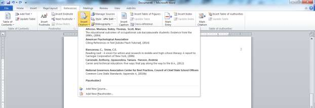 A Guide on How To Use APA Style Formatting with Microsoft Word 2010 19 5. Click OK in the Create Source windows, and repeat for each new source. You will be able to add sources later on as well. 6.