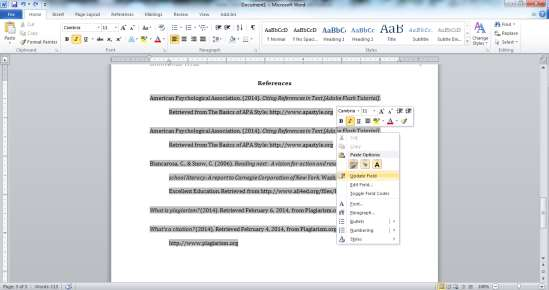A Guide on How To Use APA Style Formatting with Microsoft Word 2010 22 4.