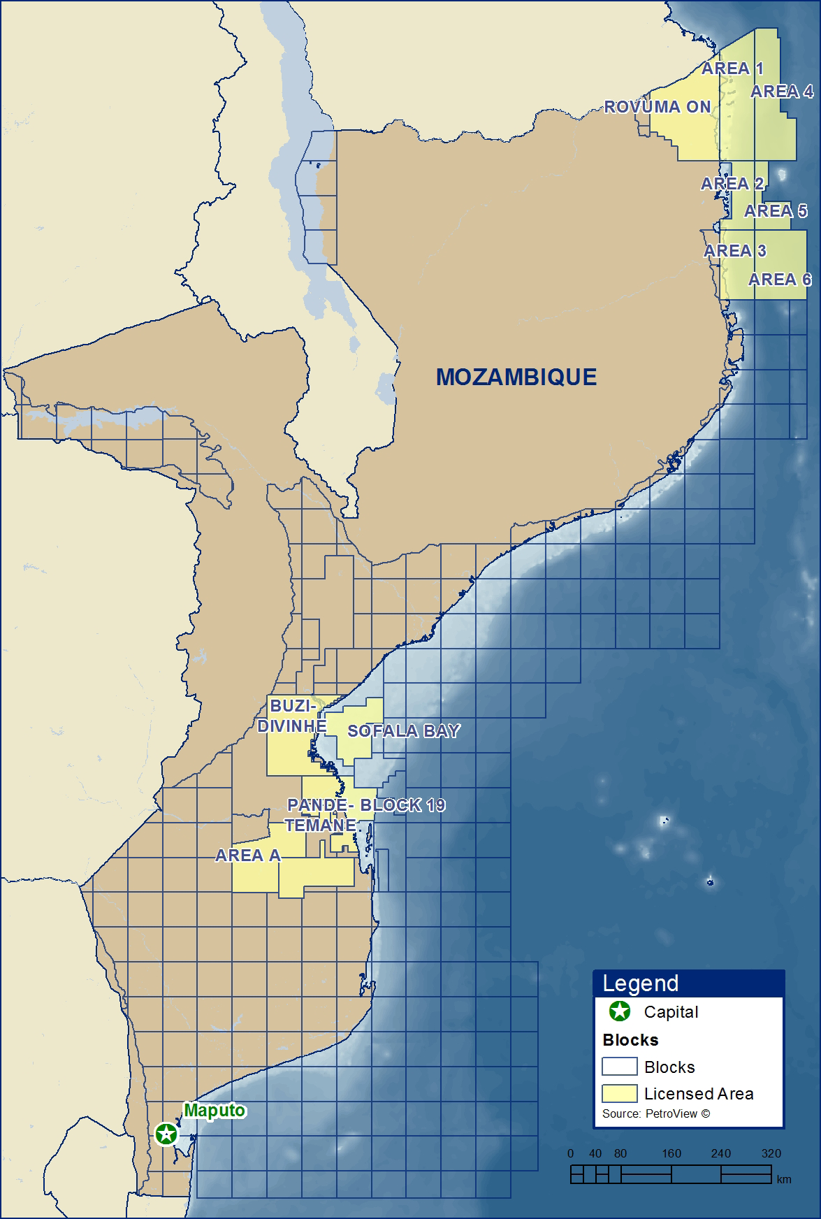 3.3 Industry overview Exploration for hydrocarbons in Mozambique dates back to 1948 and prior to 1971, 54 exploration wells had been drilled, including 10 offshore.
