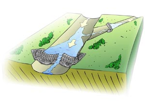 Allow groundwater recharge and sediment to settle out.
