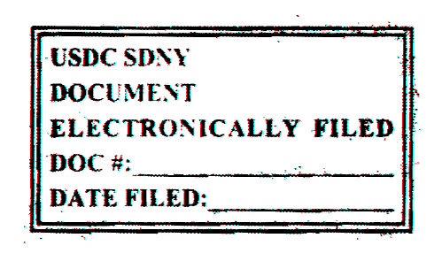 Case 1:12-cv-08333-ALC-SN Document 978 Filed 05/07/15 Page 1 of 6 UNITED STATES DISTRICT COURT SOUTHERN DISTRICT OF NEW YORK -------------------------------------------------------------------X