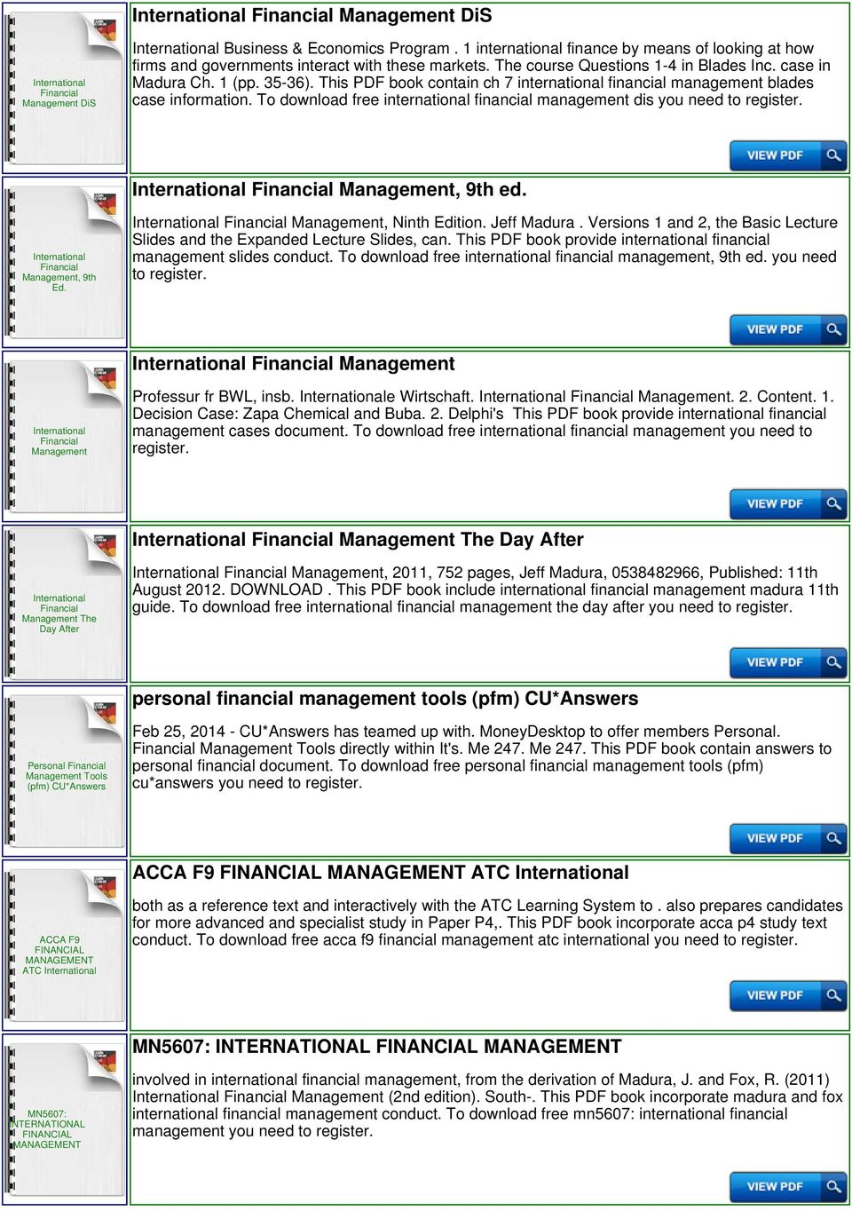 International financial management instructor questionsanswers pdf jeff madura versions 1 and 2 the basic lecture slides and the expanded lecture fandeluxe Images