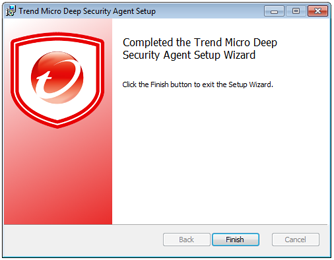 Manually Installing the Deep Security Agent 3. Destination Folder: Select the location where you would like Deep Security Agent to be installed and click Next. 4.