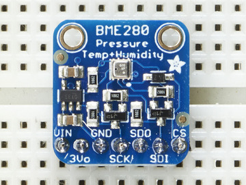 Add the breakout board: Place the breakout board over the pins so that the short pins poke through the breakout pads And Solder! Be sure to solder all pins for reliable electrical contact.