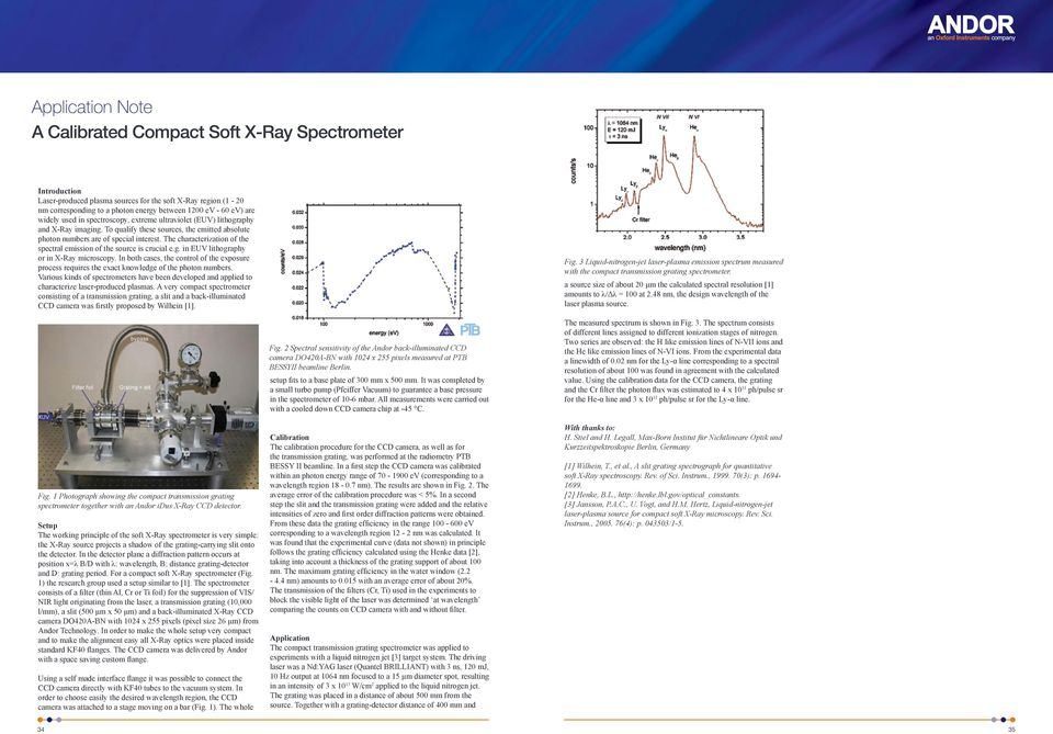 The characterization of the spectral emission of the source is crucial e.g. in EUV lithography or in X-Ray microscopy.