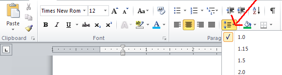 5. Line Spacing a. Word sets up your document at single space. For most documents, this is acceptable.