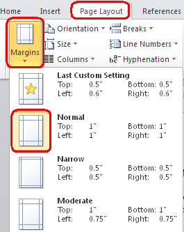 7. Adjust Margins a. Margins are the blank areas around the edge of a page that are not printed. i. Click the Page Layout Tab. ii. iii. iv.