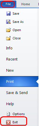 13. Printinga. Click the File tab located on the upper left corner i. Click Print ii. The Print Dialog Box appears 1. The Settings should already be set to Print All Pages 2.