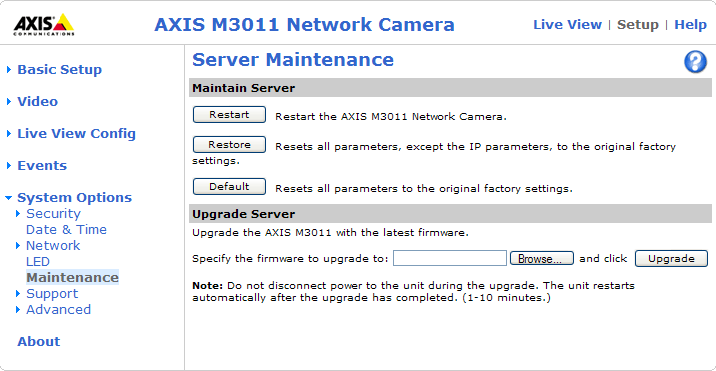 AXIS M3011 - Troubleshooting Troubleshooting Checking the Firmware Firmware is software that determines the functionality of the network cameras.