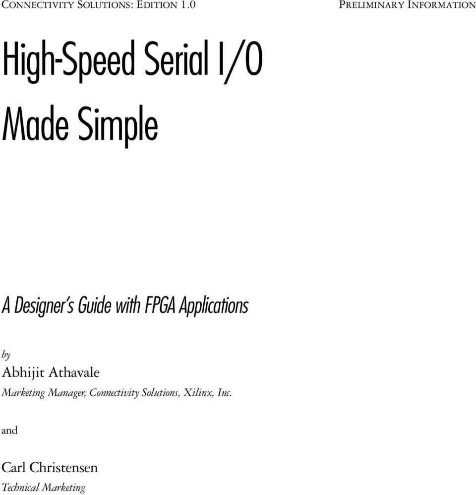 Designer s Guide with FPGA Applications by Abhijit Athavale