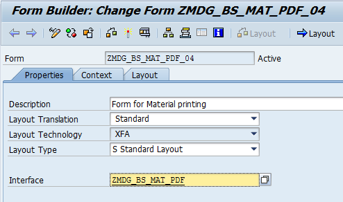 Copy the SAP-delivered print form MDG_BS_MAT_PDF_04