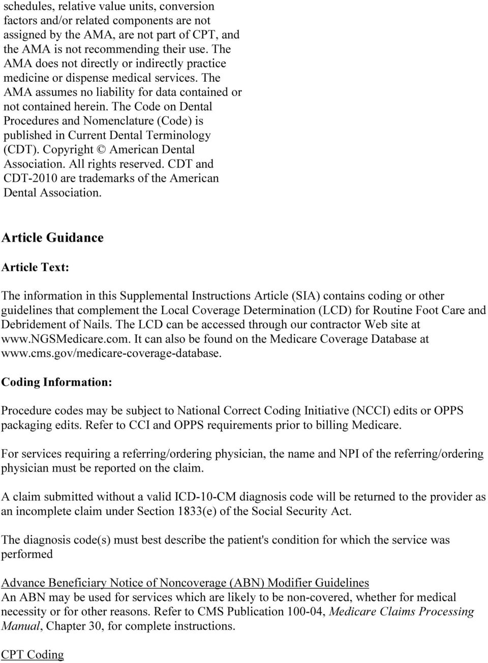 medicare claims processing manual chapter 10