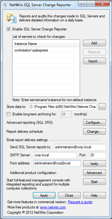 4. CONFIGURE NETWRIX CHANGE NOTIFIER FOR SQL SERVER After Netwrix Change Notifier for SQL Server has been installed, you need to enable and configure SQL Server audit. Procedure 3.