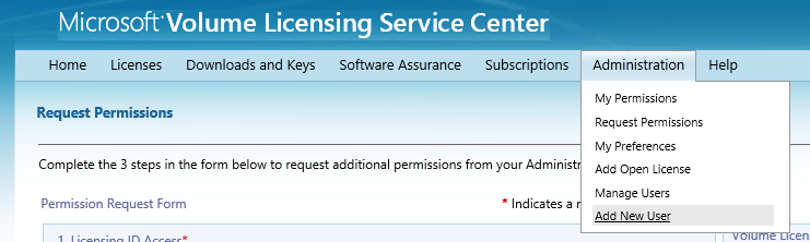 12 Microsoft Volume Licensing Service Center: Getting Started and Administration Confirm and Send Add optional comments if needed. There is a maximum character limit of 500.