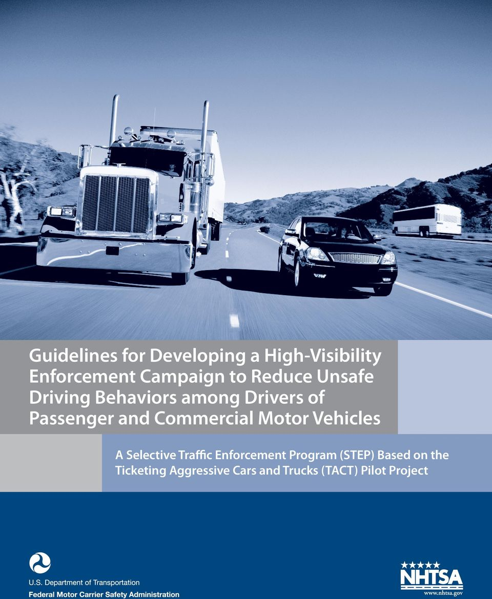 Commercial Motor Vehicles A Selective Traffic Enforcement Program