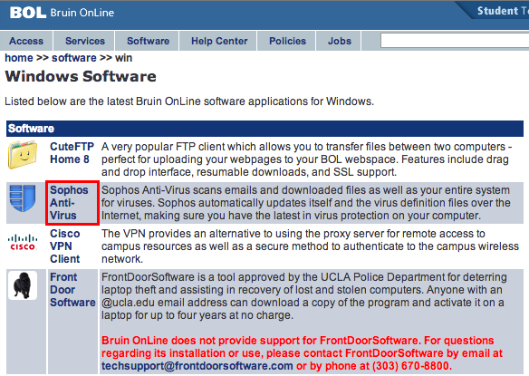 3) On this Software Downloads page, you will have two options.