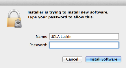 22) If prompted for authentication, enter the username and password you use to log on to your computer, and then click