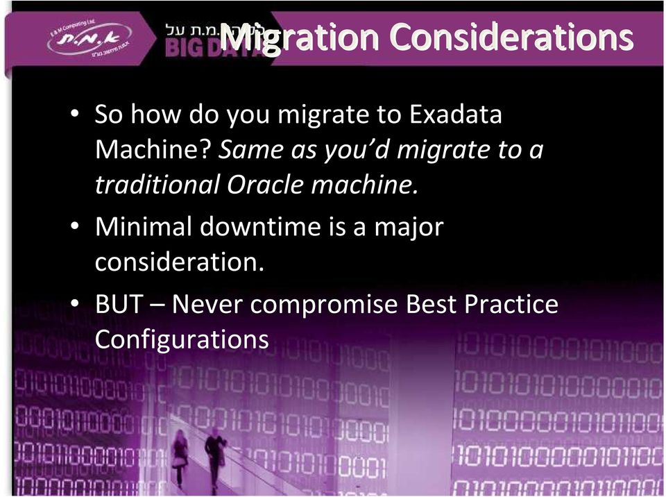 Same as you d migrate to a traditional Oracle machine.
