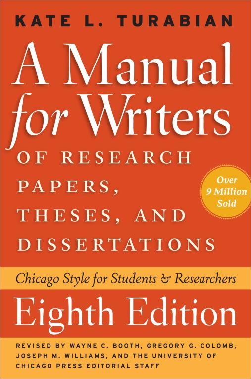 This guide is designed to aid you in creating your papers in Turabian format following A Manual for Writers of Research Papers, Theses, and Dissertations (Eighth Edition).