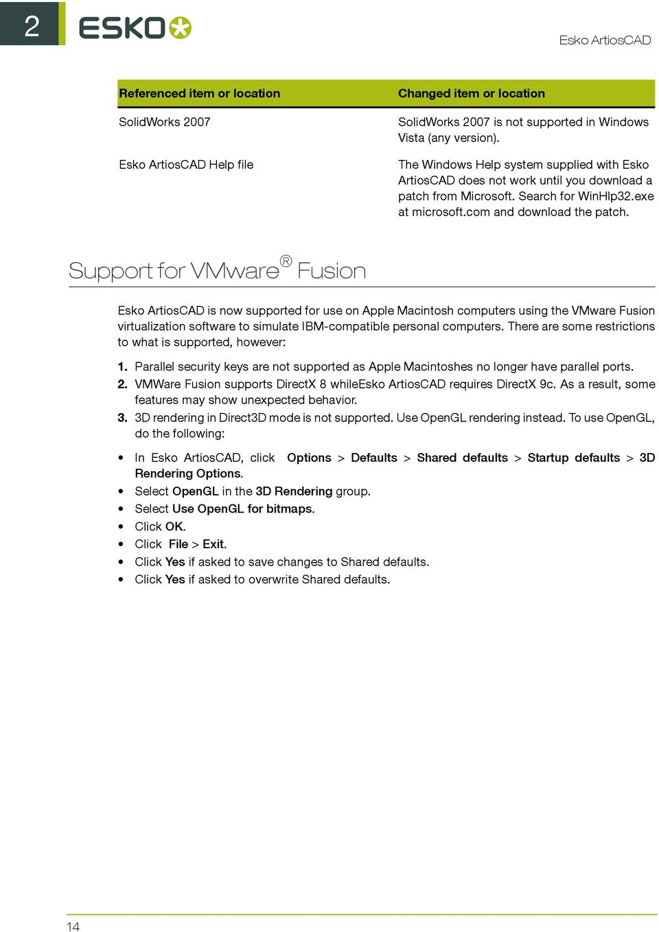 Support for VMware Fusion is now supported for use on Apple Macintosh computers using the VMware Fusion virtualization software to simulate IBM-compatible personal computers.