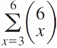 Example 31 cont d The probability that at least three prefer S is P(3 X) = b(x; 6,.5) = (.