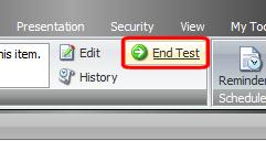11. On the Review tab, Workflow group, click Deploy to run the test. Note This is automatic when you create a test in the Page Editor. 1. Enter a comment, when prompted in the workflow. 2.