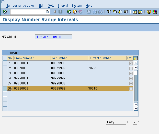 Determination of Employee Number: Go to transaction code PA04. This transaction is only to maintain the personnel (Faculty) details. Just display the intervals and have a look on this.