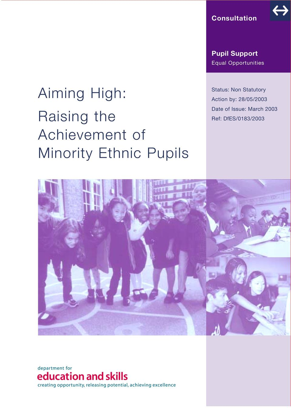 Ethnic Pupils Status: Non Statutory Action by: