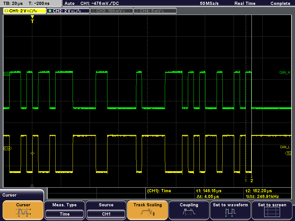 What's wrong here? After removing the commonmode interference, distortion is no longer present in the bus signals, as revealed by the diagram.