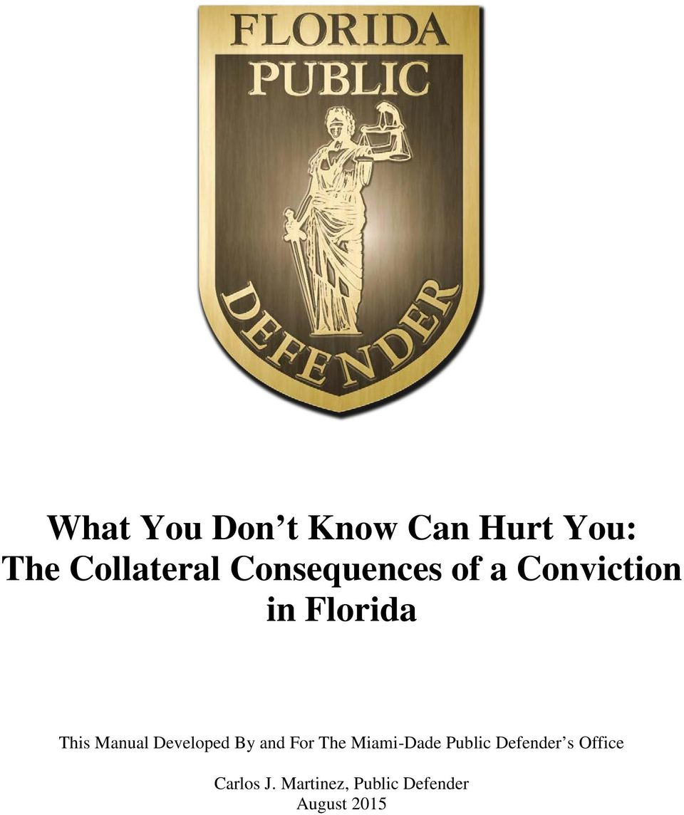 Developed By and For The Miami-Dade Public Defender