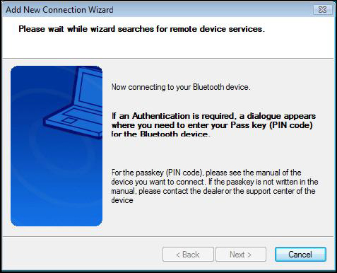 There may be more than one Bluetooth device detected. Select Bluetooth Wireless Mouse and click Next to continue.