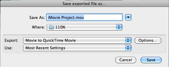 Exporting your movie (cont.) 30. Your final settings should match this screenshot. Prepare for internet streaming: uncheck 31. Click OK.