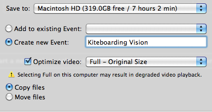 Importing videos (cont.) 6. Finding your source video clips.