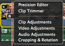 Adding clips to your project 8. Once you have imported your clips you need to add them to the project. Click and drag over the portion of the clip you wish to use.