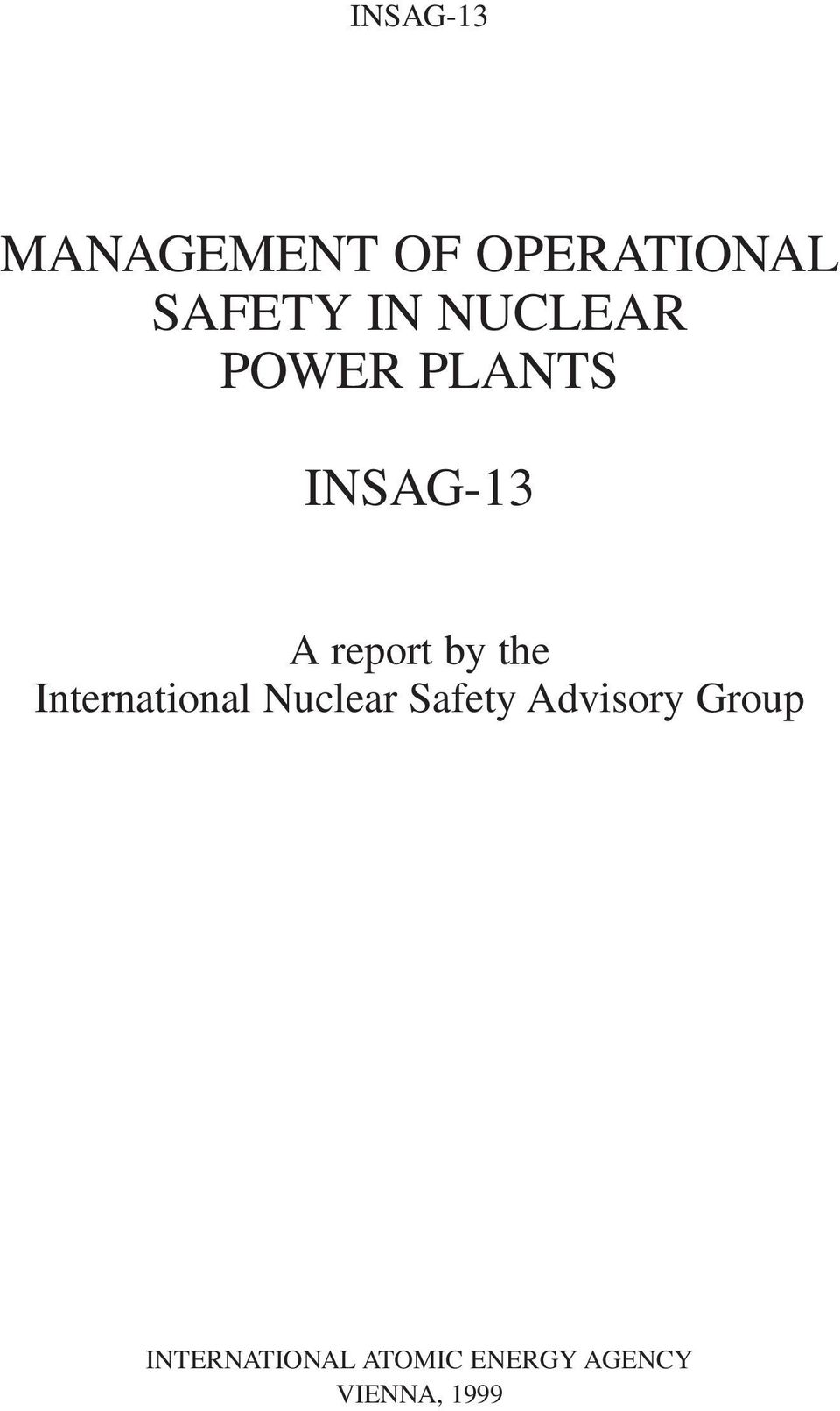 International Nuclear Safety Advisory Group