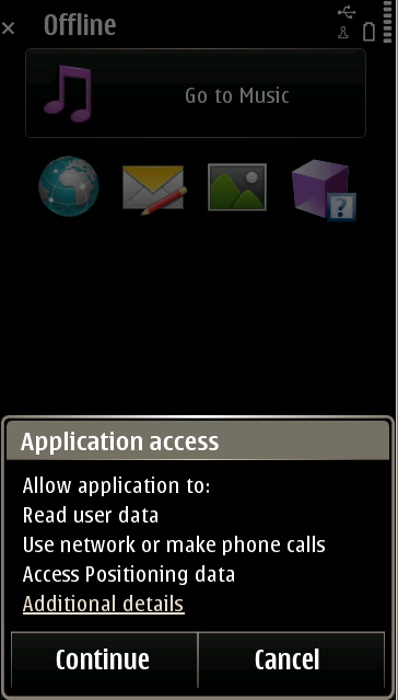 6. Permission assignment (user prompting) Symbian Java ME Android MSSF Capability
