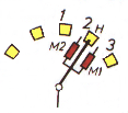 L.T.C. with resistors- ABB UZE/F Fig. a Fig. b Position 1. The main contact H is carrying the load current.