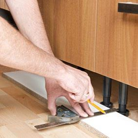 Extra Fixings To Secure Wall Unit In A Kitchen