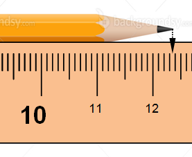 centimeters From the last measurement 3 millimeters From the last measurement (This is the Precision of the tool [THE SMALLEST written lines]) 5 10 of the way through the empty space is your