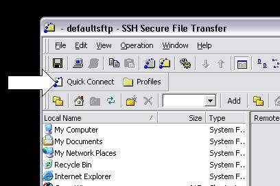 Publishing your web site using SSH - Secure Shell FTP Client The Secure Shell FTP client is used to transfer files from one computer to another.