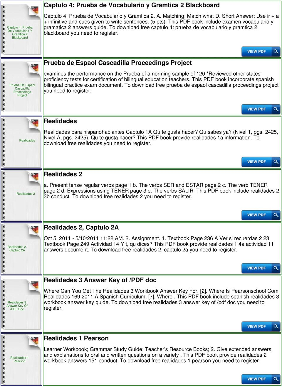 To download free captulo 4: prueba de vocabulario y gramtica 2 blackboard you need to Prueba de Espaol Cascadilla Proceedings Project Prueba De Espaol Cascadilla Proceedings Project examines the
