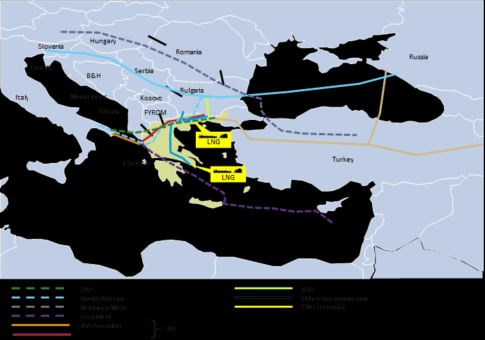 To this end Greece supports certain gas pipeline