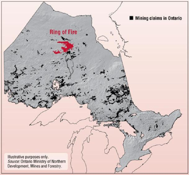 Top Locations Ontario - Ring of Fire Provincial Description Investment